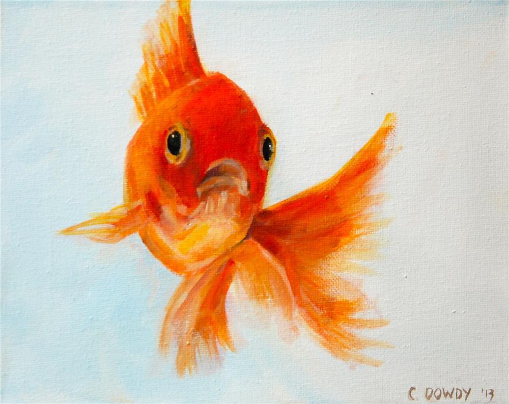 """No More Fish Food? Pat III"" original fine art by Christina Dowdy"
