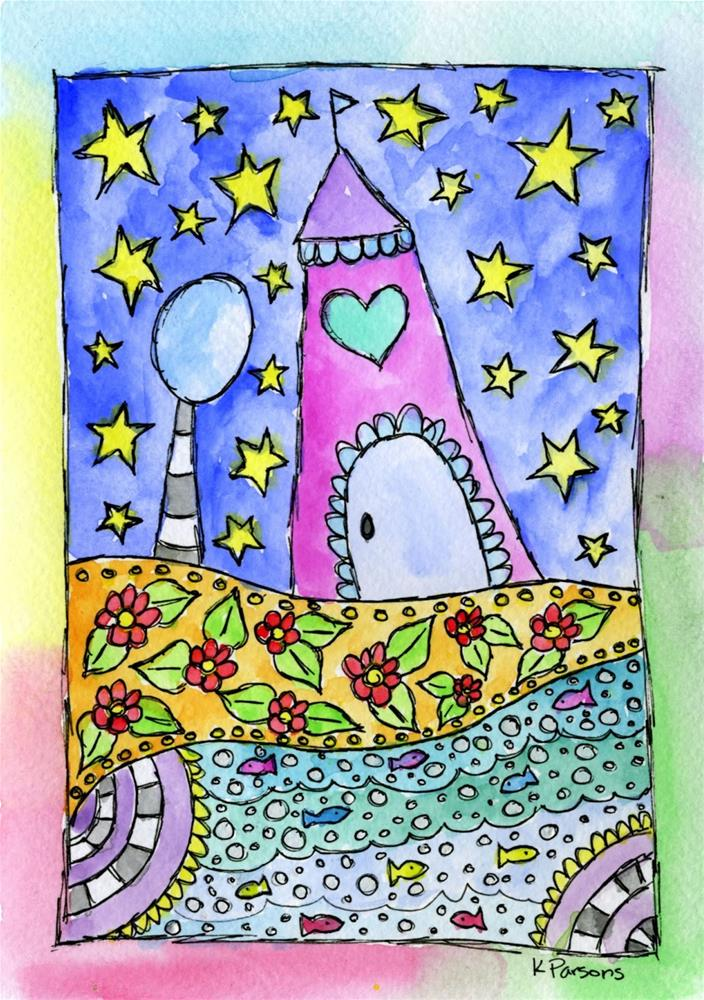 """Home Sweet Home"" original fine art by Kali Parsons"