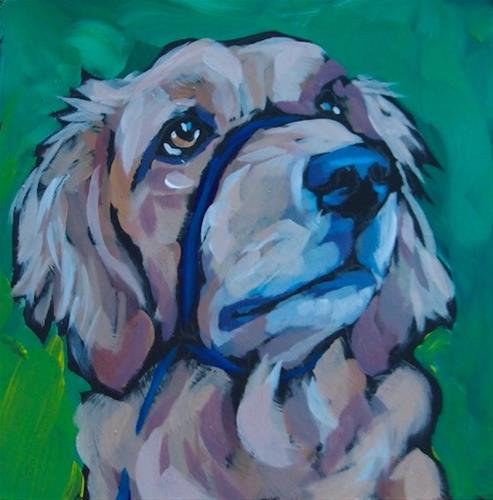 """Powderhorn Retriever"" original fine art by Kat Corrigan"