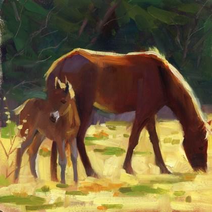 """Hangin' with mom"" original fine art by Kathy Weber"