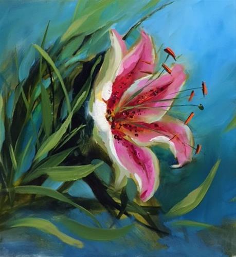 """A Lily a Day - Nancy Medina Art Classes and Videos"" original fine art by Nancy Medina"
