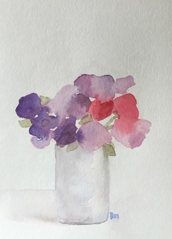 """sweet sweetpeas"" original fine art by Pamela Munger"