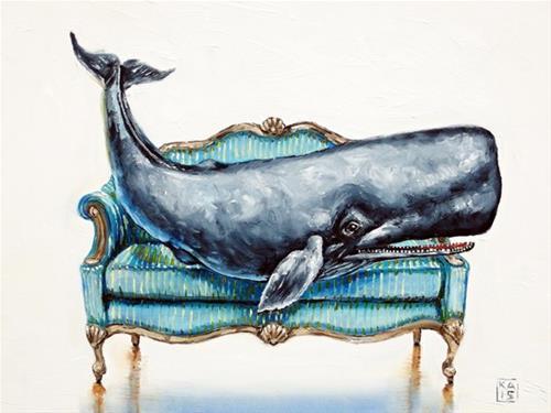 """blue note"" original fine art by Kimberly Applegate"