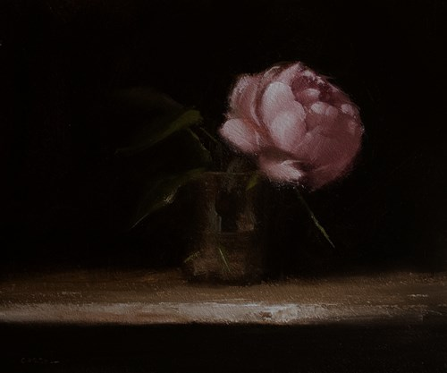 """Peony in Glass"" original fine art by Neil Carroll"