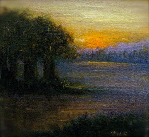 """Little Pond II"" original fine art by MeeLi Lee"