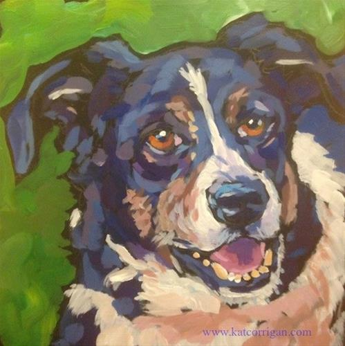 """Sadie, July 16"" original fine art by Kat Corrigan"