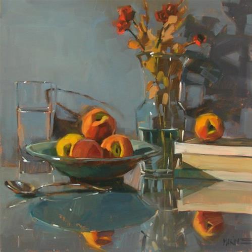"""Early Peaches"" original fine art by Carol Marine"