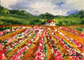 """""""Flower Factory"""" original fine art by JoAnne Perez Robinson"""