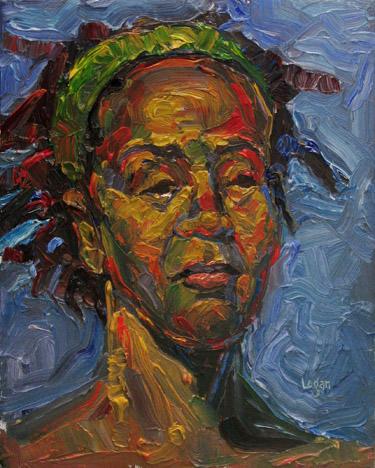 """The Green Band"" original fine art by Raymond Logan"