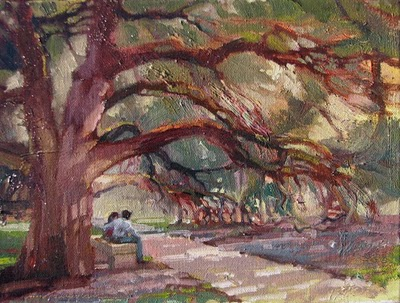 """Century Tree-State 1"" original fine art by V.... Vaughan"