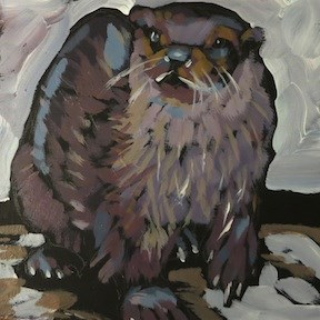 """River Winter"" original fine art by Kat Corrigan"