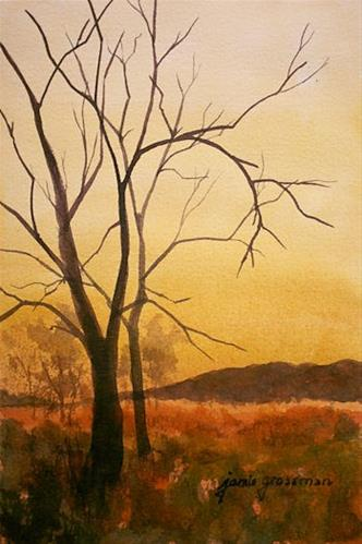 """""""The Great Swamp in Rusts and Golds"""" original fine art by Jamie Williams Grossman"""
