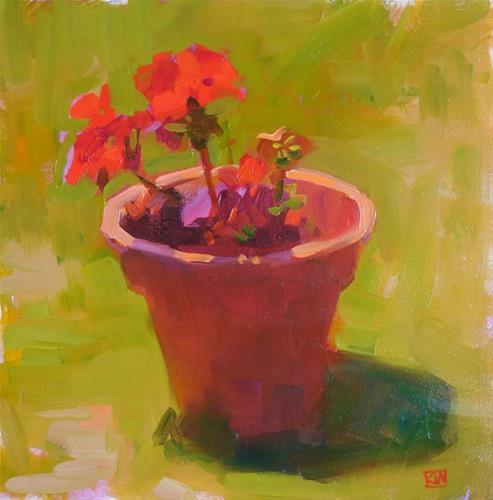 """Geranium"" original fine art by Kathy Weber"