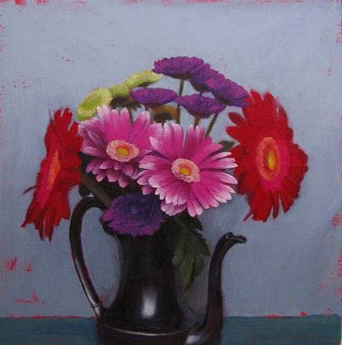 """In the Chill, a new floral still life painting"" original fine art by Diane Hoeptner"