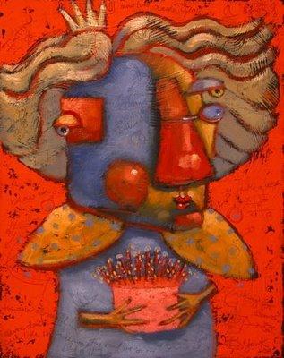 """Birthday Queen"" original fine art by Brenda York"