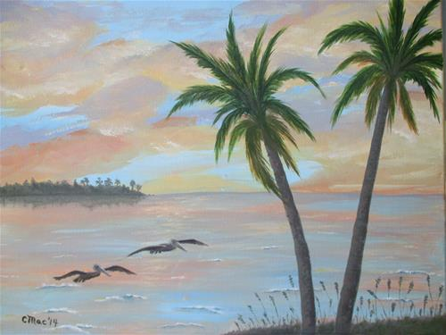 """Tranquil Sunset"" original fine art by Chris MacCormack"