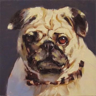 """""""PUG"""" original fine art by Helen Cooper"""