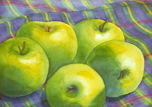 """Green Apples"" original fine art by Anne Ducrot"