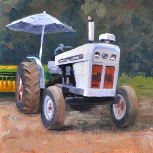 """A Dave Brown Tractor!"" original fine art by Susan Matteson"