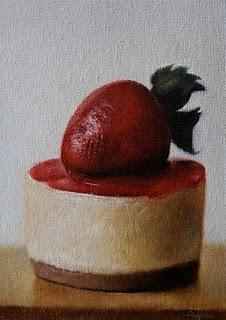"""Strawberry Cheesecake"" original fine art by Jonathan Aller"