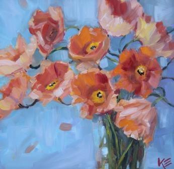 """""""Delicate Sunshine"""" original fine art by Krista Eaton"""