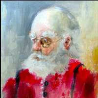 """Santa 14"" original fine art by Anne Marie Propst"