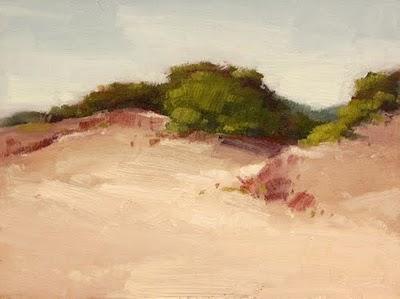 """Morning Dunes"" original fine art by Laurel Daniel"