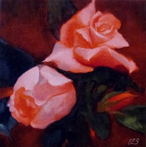 """Pink Roses"" original fine art by Christine E. S. Code"