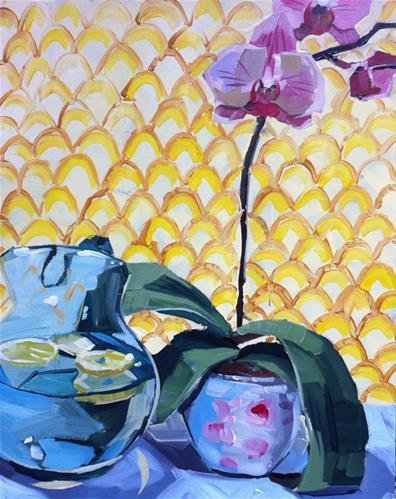 """Thirsty Orchid"" original fine art by Teddi Parker"