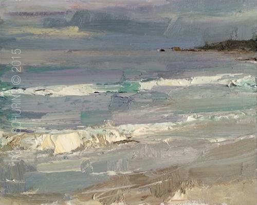 """""""Seascape Morning View"""" original fine art by Roos Schuring"""