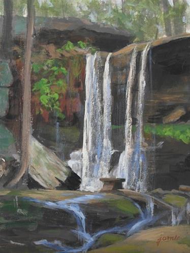 """""""Waterfall Symphony"""" original fine art by Jamie Williams Grossman"""