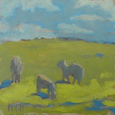 """One Sheep, Two Sheep, Three Sheep"" original fine art by Heidi Malott"