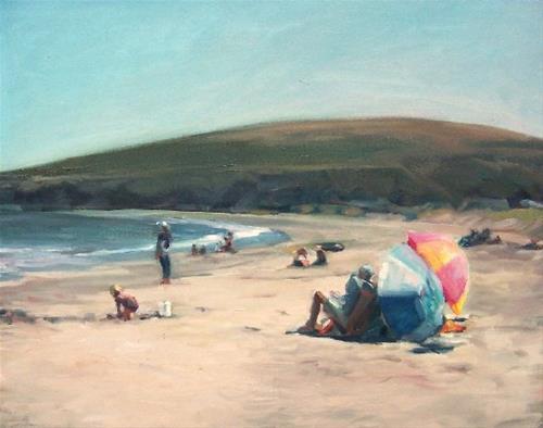 """Missing You,seascape,oil on canvas,16x20,priceNFS"" original fine art by Joy Olney"