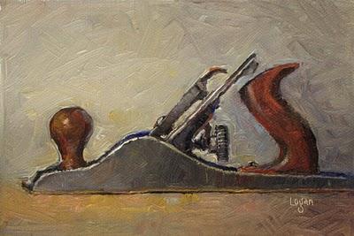 """Stanley No. 5 Plane"" original fine art by Raymond Logan"