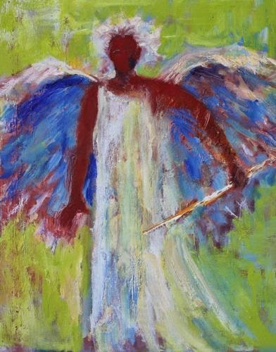 """""""Gabriel, Contemporary Figure Paintings by Arizona Artist Amy Whitehouse"""" original fine art by Amy Whitehouse"""