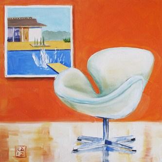 """swan dive"" original fine art by Kimberly Applegate"