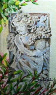 """Stone Cherub"" original fine art by JoAnne Perez Robinson"