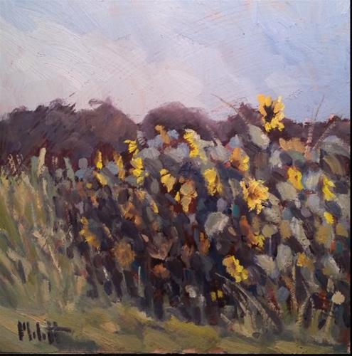 """Sunflowers Garden Impressionism Original Oil Painting"" original fine art by Heidi Malott"