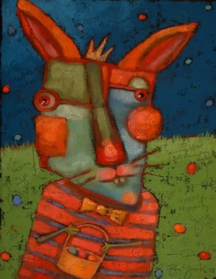 """Wascally Wabbit"" original fine art by Brenda York"