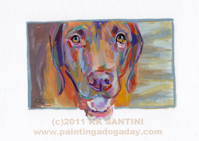"""Wrigley, A Painted Sketch"" original fine art by Kimberly Santini"