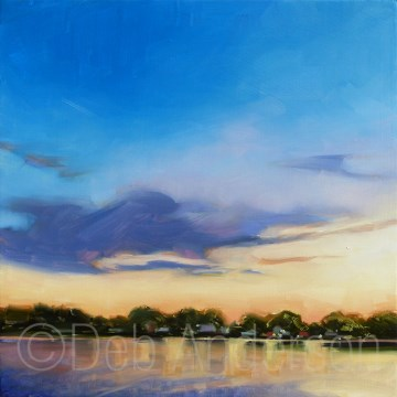 """""""Oil Painting: Cottage Evening"""" original fine art by Deb Anderson"""