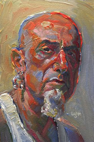 """Study of Mr. K"" original fine art by Raymond Logan"