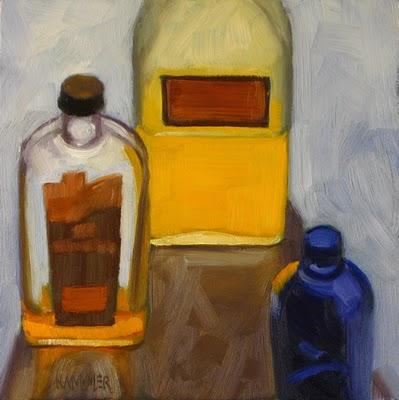"""Inner Glow  6x6 oil"" original fine art by Claudia Hammer"