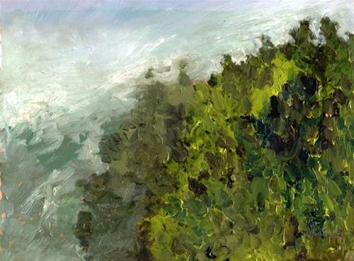 """""""Morning Fog Bay Area"""" original fine art by Donna Crosby"""