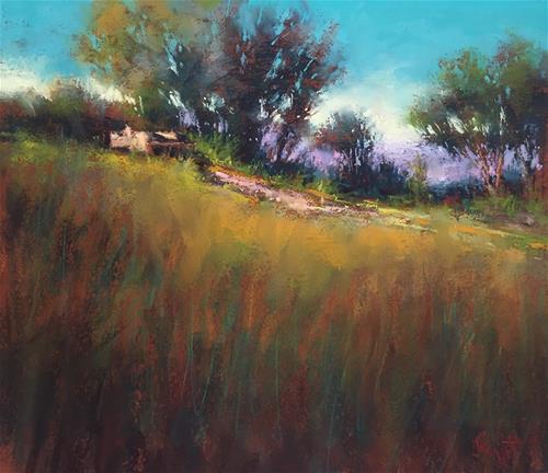 """""""Taos Demo"""" original fine art by Marla Baggetta"""