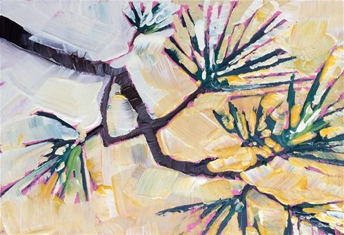 """Winter Pine No.2"" original fine art by Teddi Parker"