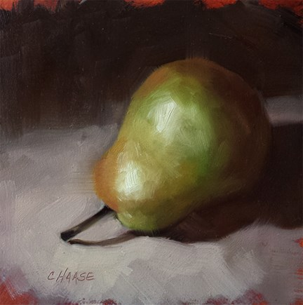 """Traditional Pear"" original fine art by Cindy Haase"