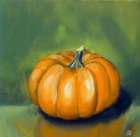 """""""Pumpkin """" original fine art by Dalan Wells"""