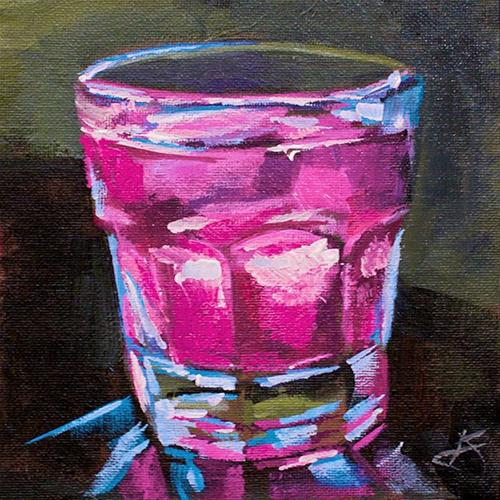 """Ruby Glass"" original fine art by J. Farnsworth"
