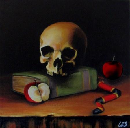 """The Death of Knowledge"" original fine art by ~ces~ Christine E. S. Code"